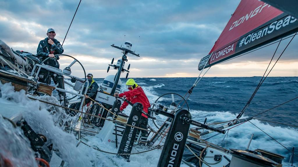 Leg 02, Lisbon to Cape Town, day 02, Morning on board Dongfeng. Volvo Ocean Race. 06 November, 2017. ©  Jeremie Lecaudey / Volvo Ocean Race