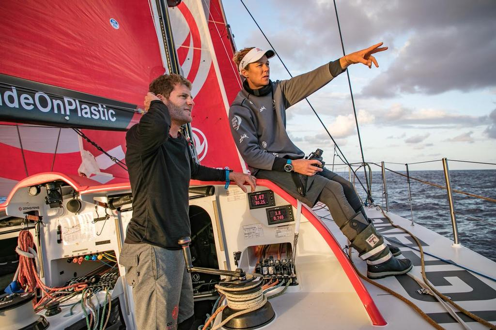 Leg 02, Lisbon to Cape Town, day 05, morning on board Dongfeng. Volvo Ocean Race. 09 November, 2017. ©  Jeremie Lecaudey / Volvo Ocean Race