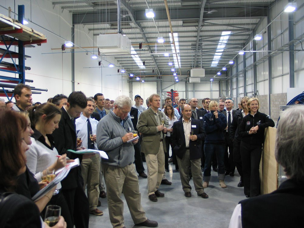 Double Olympic Medallist Shirley Robertson formally opens the new Seldén Masts Ltd. manufacturing facility - photo © Rick Perkins