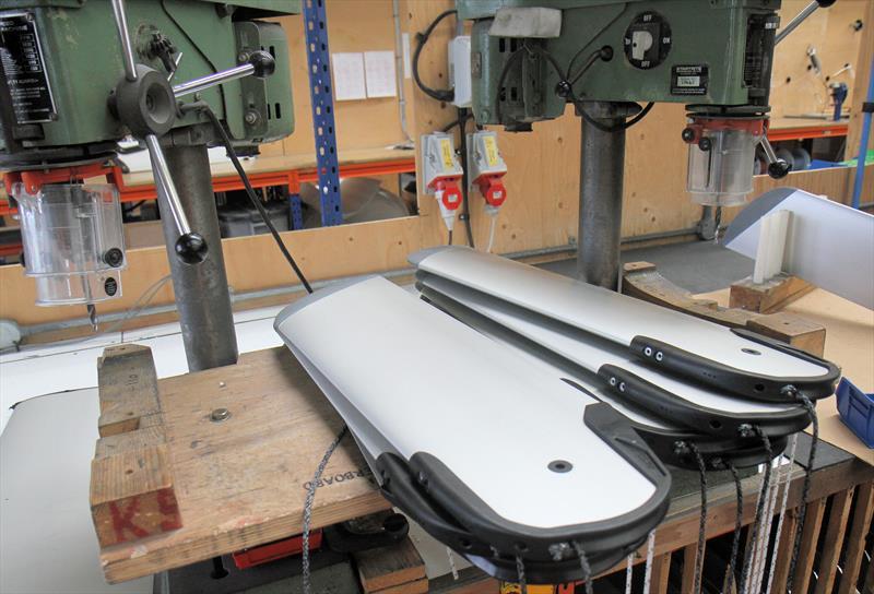 RS dinghy foils under construction at Selden - photo © Mark Jardine / YachtsandYachting.com