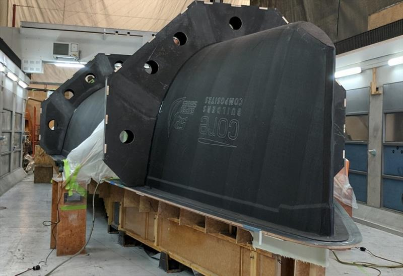 TP52 Sled under constrcution at Core Builders Composites, Warkworth, New Zealand - photo © Core Builders Composites