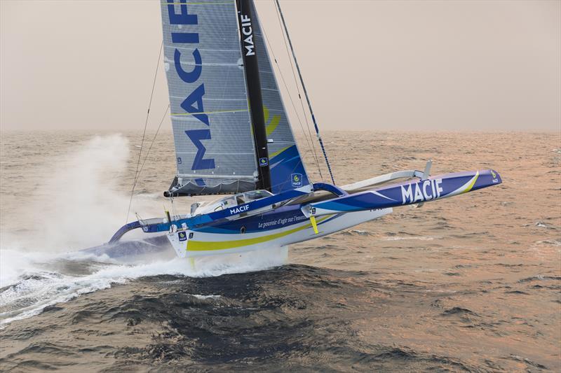 Francois Gabart onboard the maxi trimaran MACIF - photo © Jean-Marie Liot / ALEA / MACIF