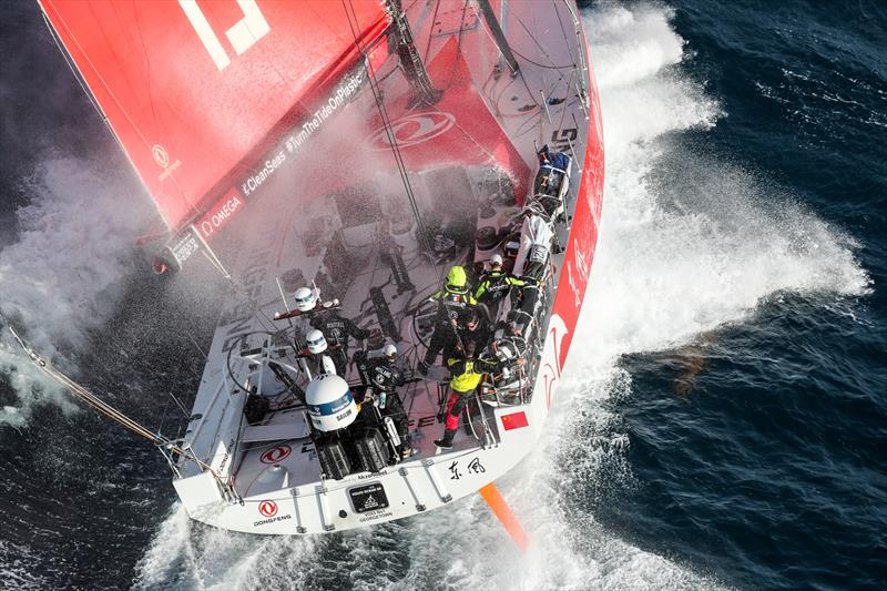 Dongfeng, Leg 4, Melbourne to Hong Kong, start. - photo © Ainhoa Sanchez / Volvo Ocean Race