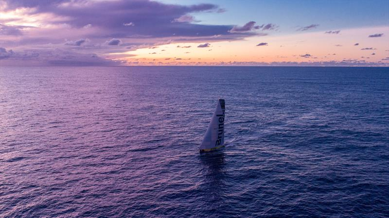 Leg 4, Melbourne to Hong Kong, day 11 on board Brunel. Drone. Sunrise. photo copyright Yann Riou / Volvo Ocean Race taken at  and featuring the Volvo One-Design class