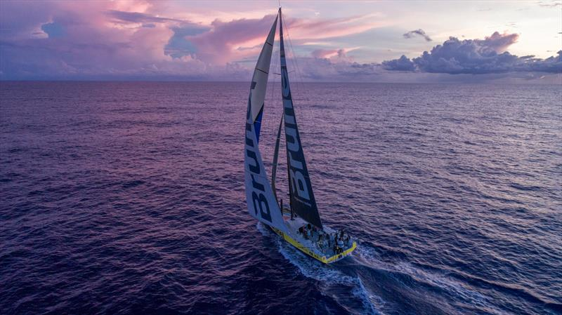 Leg 4, Melbourne to Hong Kong, day 11 on board Brunel. Drone. Sunrise. - photo © Yann Riou / Volvo Ocean Race