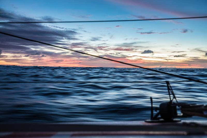 Leg 4, Melbourne to Hong Kong, day 12 on board MAPFRE, sunsets, but already in movement with the trade winds. - photo © Ugo Fonolla / Volvo Ocean Race