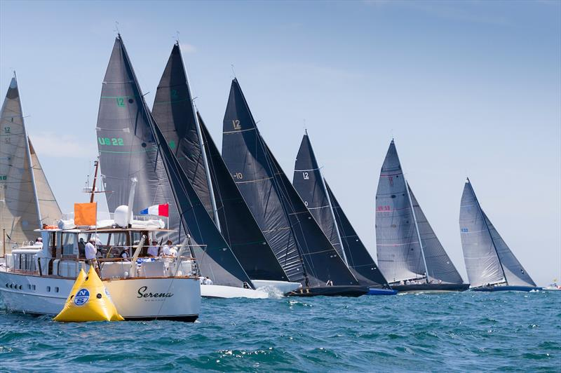 Start of the Modern Division on day four of the 2019 12 Metre World Championship. - photo © Ian Roman