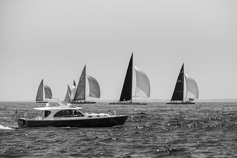 Spectators aboard a marvellous Palm Beach at the 2019 12m World Championship in Rhode Island. - photo © Joel Butler