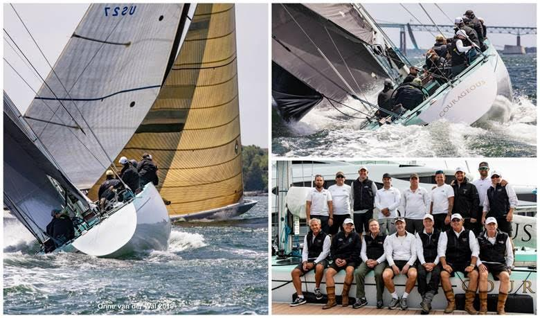 Courageous (US-26) won the Modern Division of the 2019 12 Metre North American Championship as well as the first-ever 12 Metre North American Cup. photo copyright Onne van der Wal taken at Ida Lewis Yacht Club and featuring the 12m class