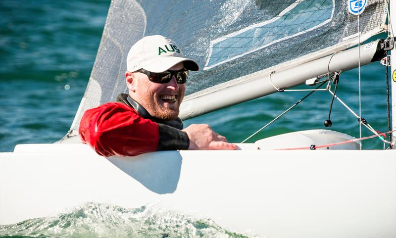 Matt Bugg (AUS) is all smiles after his Gold Medal win in the 2.4mtr Norlin OD - Final Day - Para Sailing World Championship, Sheboygan, Wisconsin, USA.  - photo © Cate Brown
