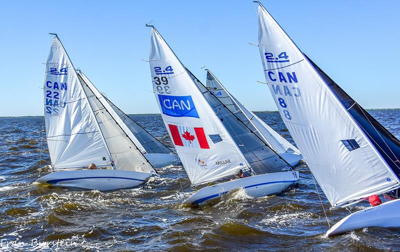 Fleet action in Charlotte Harbor - 2019 2.4mR CanAm Championship Series - photo © 2019 CanAm Championship/Fran Burstein