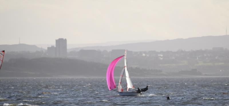 Danny and Tom win the RYA Scotland 29er Christmas Regatta photo copyright Iain Patrick taken at Dalgety Bay Sailing Club and featuring the 29er class