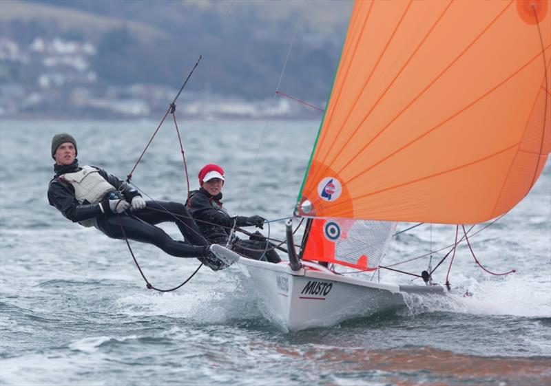 Ewan Wilson and Finley Armstrong in action - photo © Marc Turner / RYA