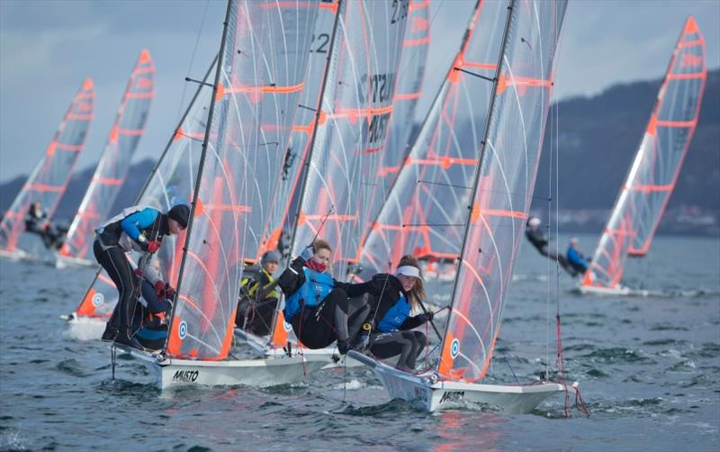 Freya Black and Millie Aldridge in action - photo © Marc Turner / RYA