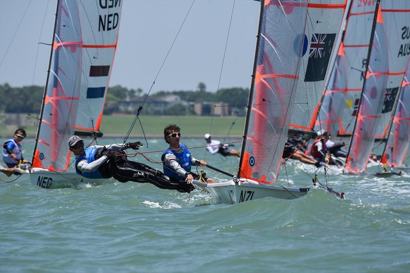 Seb Lardies, Scott Mckenzie  Mens 29er - Day 4 - Youth Sailing World Championships - Corpus Christi, Texas, USA  - photo © James Tomlinson /World Sailing