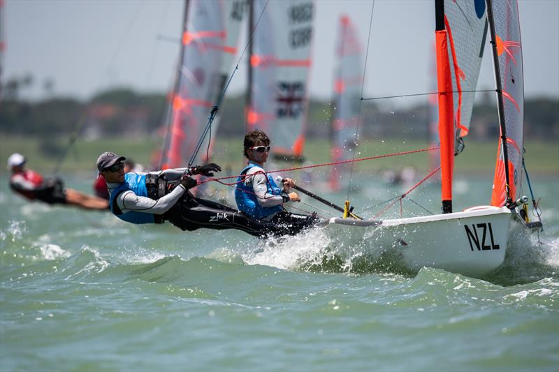 NZL tied for first place but lost on a tiebreaker - Youth Sailing World Championships - Final Day, Corpus Christi, Texas, USA - photo © Jen Edney / World Sailing