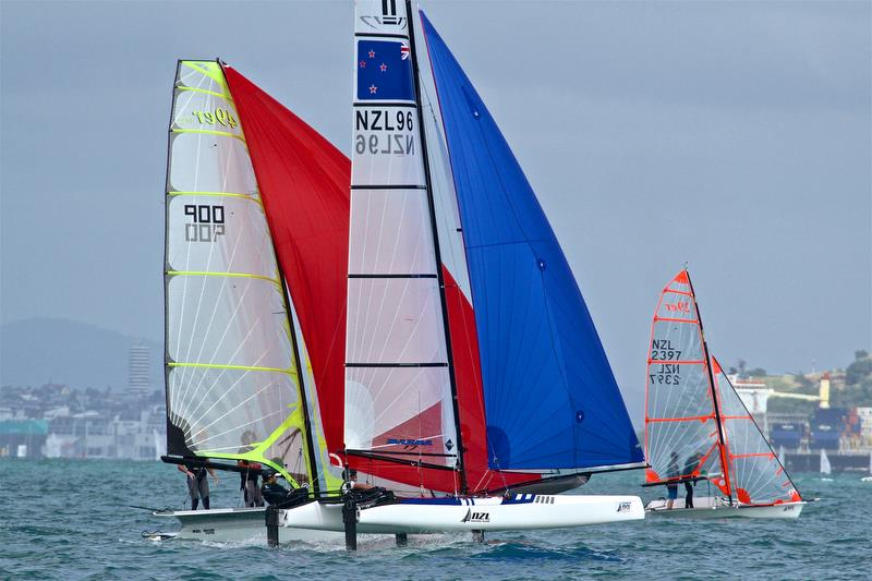 Youth classes rub shoulders with the Olympic veterans - Day 2 - Oceanbridge NZL Sailing Regatta - February 2, 2019 - photo © Richard Gladwell