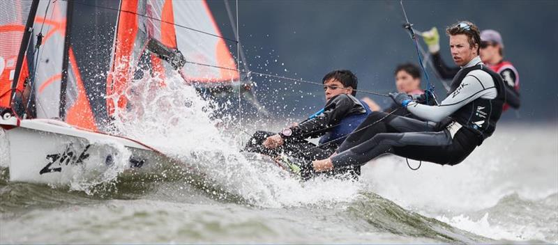 Kiwi 29er crews in action at the Worlds in Gdynia - July 2019 - photo © Robert Hajduk / www.shuttersail.com