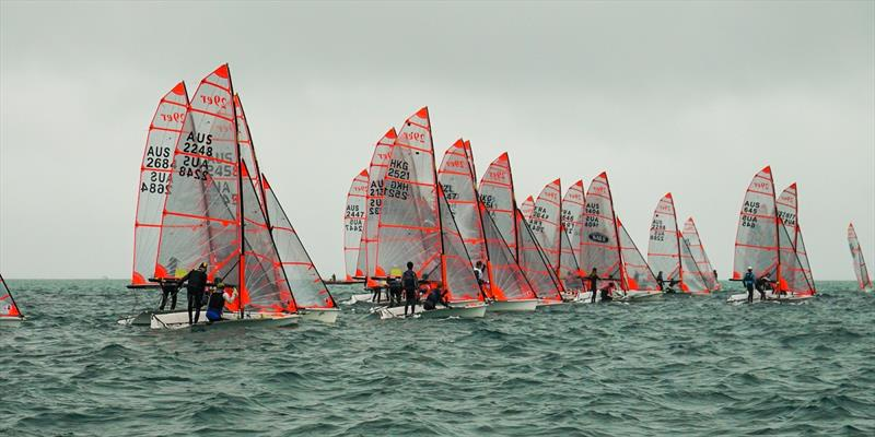 A strong fleet of 29ers participated in the 2020 Australian 29er Nationals at Blairgowrie - photo © Jordan Roberts