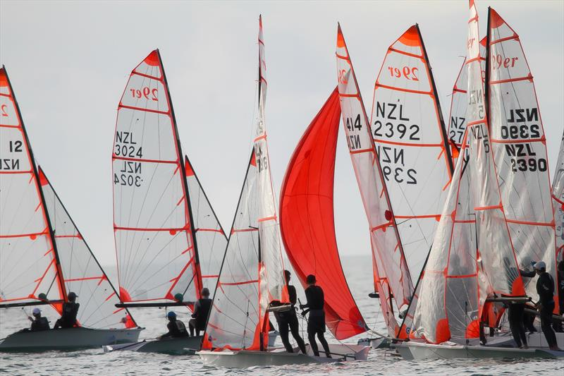 29er class holding sprint racing at Wakatere BC - Narrow Neck - June 2020 - photo © Richard Gladwell / Sail-World.com