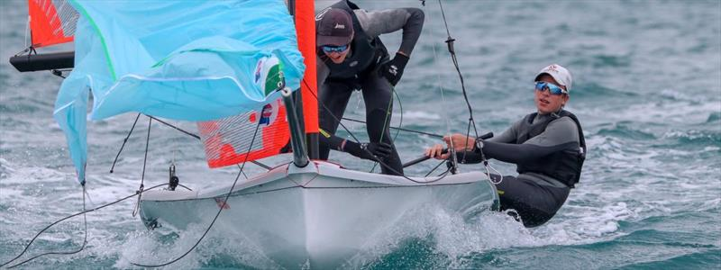 Brayden Hamilton and Seb Menzies won the Barkers 29er NZ Nationals at Murrays Bay SC - June 2021 - photo © Yachting NZ