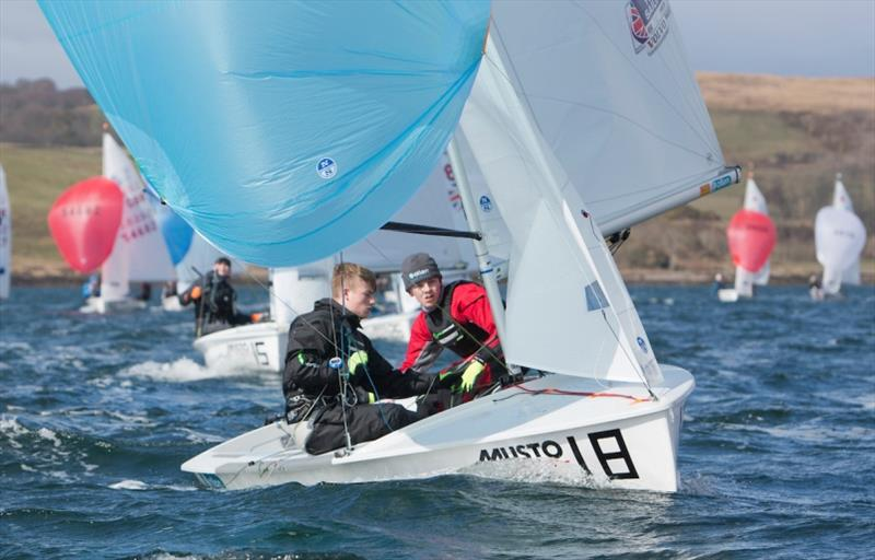 Rhys Lewis and Drew Wright in action - photo © Marc Turner / RYA
