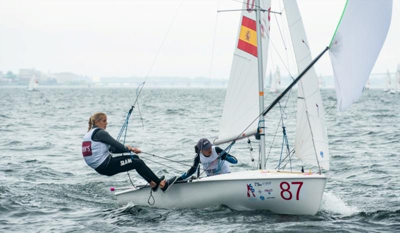 Laura Akrich Vazquez and Clara Llabres Rival (ESP) in 3rd overall in 420 Women - photo © Cate Brown / 420 Class