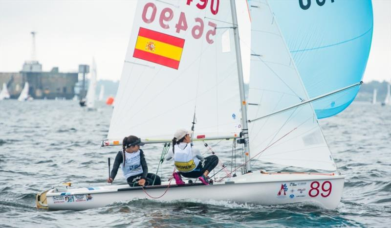 Patricia Reino Cacho and Isabel Laiseca Bueno (ESP) in 2nd overall in 420 Women - photo © Cate Brown / 420 Class