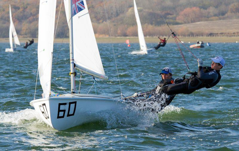 Calum Cook and Calum Bell in the 420 End of Season Championship at Grafham Water - photo © Richard Sturt