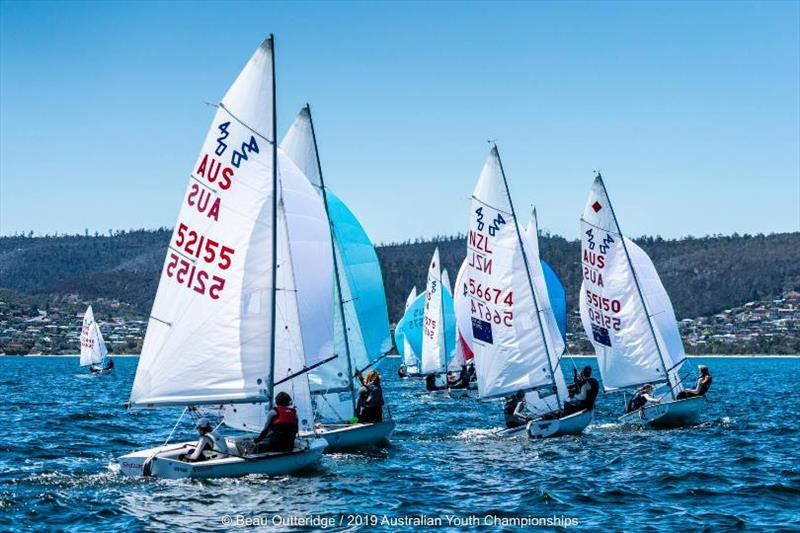 420s fleet - Day 1, 2019 Australian Sailing Youth Championships - photo © Beau Outteridge / 2019 Australian Youth Championships