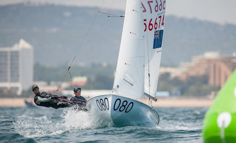 Seb Menzies/Blake Mcglashan (NZL) lead the 420 Open - 2019 420 World Championship - photo © Osga - João Ferreira