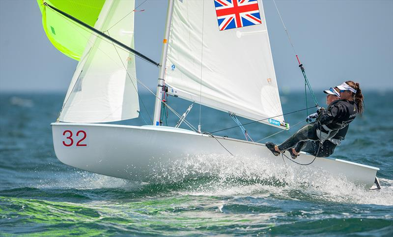 Vita Heathcote/Milly Boyle (GBR) lead the 420 Women - 2019 420 World Championship - photo © Osga - João Ferreira