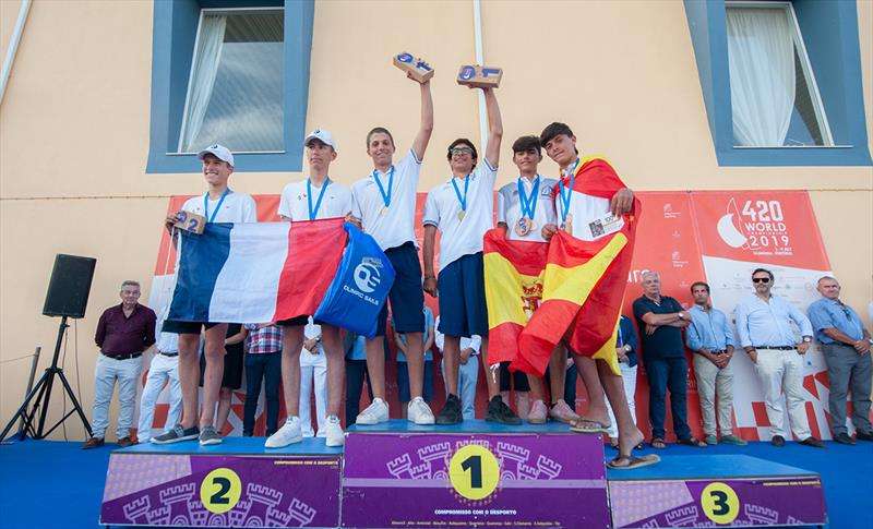 420 U17 Open Podium - 2019 420 World Championship - photo © Osga - João Ferreira