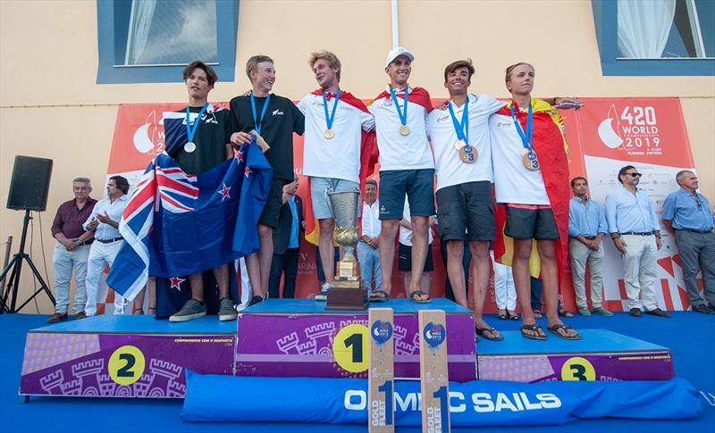 420 Open Podium - 2019 420 World Championship photo copyright Osga - João Ferreira  taken at  and featuring the 420 class
