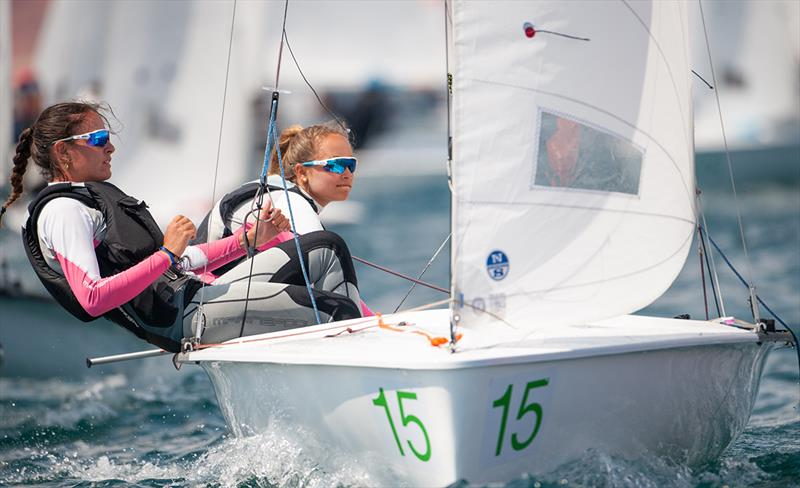 Neus Ballester/Andrea Perello (ESP 56769) win Women U17 - 2019 420 World Championship - photo © Osga - João Ferreira