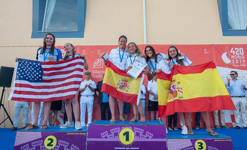 420 U17 Women Podium - 2019 420 World Championship - photo © Osga - João Ferreira