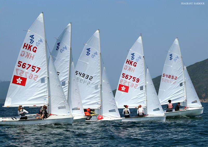 Duncan Gregor and Julia Jacobsen nail the start - 2020 Open Dinghy Regatta, Day 2 photo copyright Fragrant Harbour taken at Hebe Haven Yacht Club and featuring the 420 class