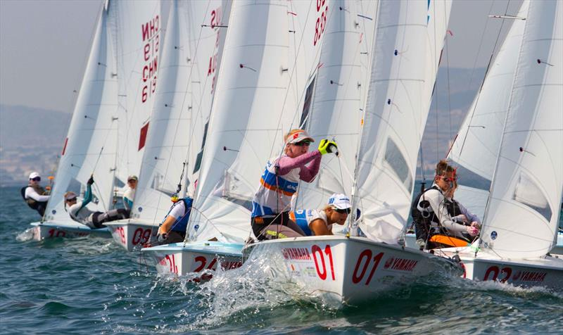 Racecourse action at the 470 Worlds - photo © Nikos Alevromytis / International 470 Class