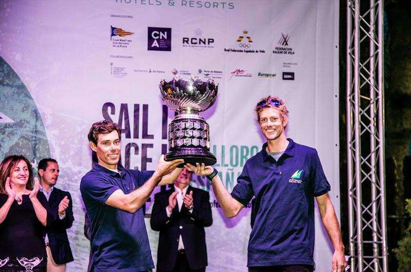 Matt Belcher and Will Ryan winners of the Princesa Sofia Trophy awarded for the most outstanding performance in the  49th Trofeo Princesa Sofia Iberostar, April 7, 2018 - photo © Jesus Renedo / Sailing Energy / Trofeo Princesa Sofia IBEROSTAR