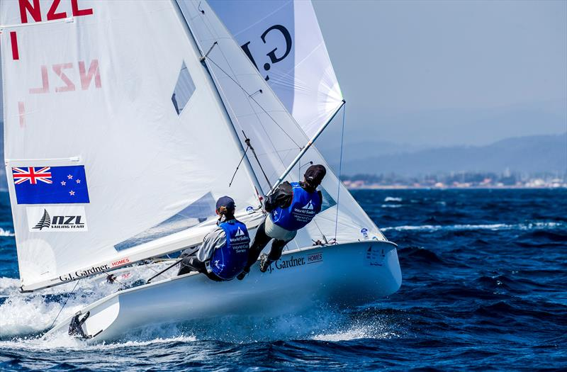 Paul Snow-Hansen and Daniel Willcox - Sailing World Cup, Hyeres, April 29, 2018 - photo © Jesus Renedo / Sailing Energy
