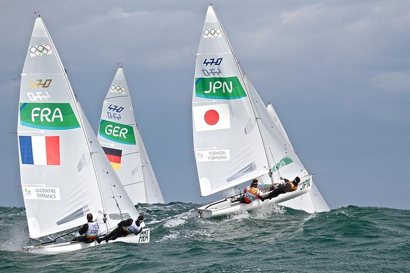 The 470 is expected to be confirmed as a Mixed Two handed class for the 2024 Olympics in Marseille. The class will race as a Male and Female event in Tokyo 2020 - photo © Richard Gladwell