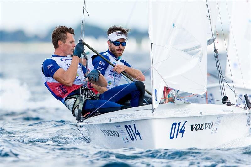 Luke Patience (GBR, helm) celebrated his birthday with a race win in the Mens 470 - with crew Chris Grube (GBR) - Day 3 - Hempel Sailing World Championships, Aarhus, Denmark - photo © Sailing Energy