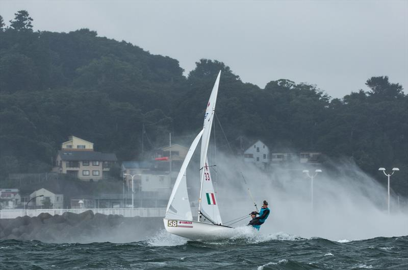 Typhoon prone Enoshima/Sagami Bay is expected to be a more rugged sailing environment than Aarhus - 2017 470 Junior Worlds - photo © Junichi Hirai / Bulkhead Magazine Japan