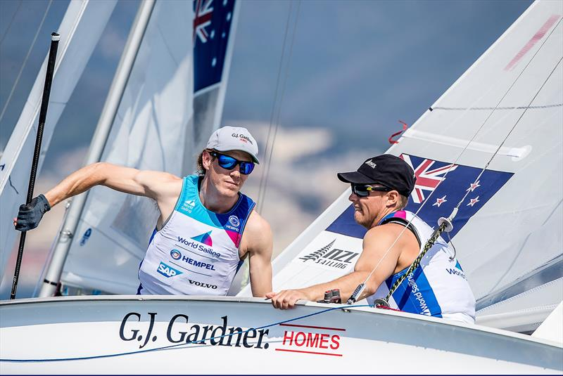 Paul Snow-Hansen and Dan Willcox - 470 - NZL- Day 6 - Hempel Sailing World Cup - Genoa - April 2019 - photo © Sailing Energy