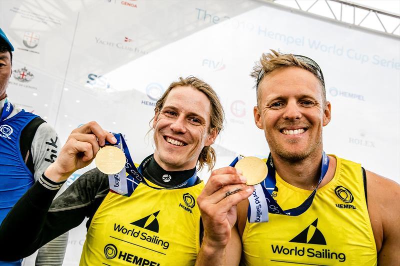 Paul Snow-Hansen and Dan Willcox - 470 - NZL- Day 7 - Hempel Sailing World Cup - Genoa - April 2019 - photo © Sailing Energy