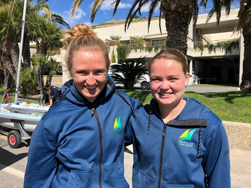 Australian Sailing Team - 470 European Championships 2019 photo copyright Australian Sailing Team taken at Yacht Club Sanremo and featuring the 470 class