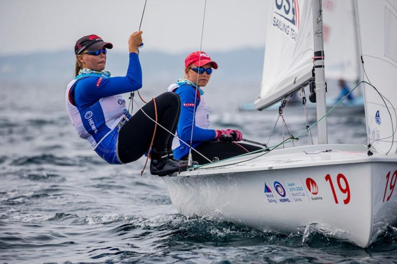 U.S. Women's 470, Carmen and Emma Cowles - photo © Sailing Energy / World Sailing