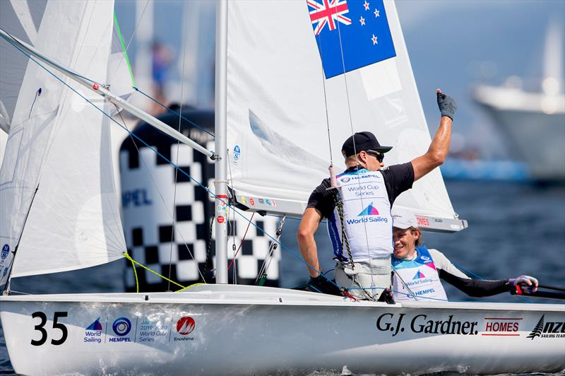 Paul Snow-Hansen and Dan Willcox (NZL)  were Men  470 medal race at the World Cup Series regatta in Enoshima. - Enoshima , Round 1 of the 2020 World Cup Series - September 1, 2019Enoshima , Round 1 of the 2020 World Cup Series - September 1, 2019 - photo © Pedro Martinez / Sailing Energy / World Sailing
