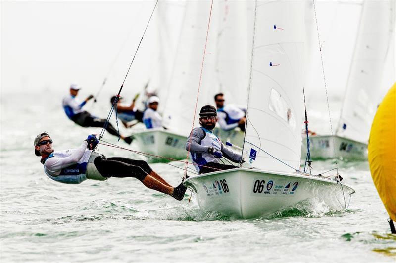 Stu McNay and Dave Hughes at the 2020 Hempel World Cup Series Miami - photo © Sailing Energy / World Sailing