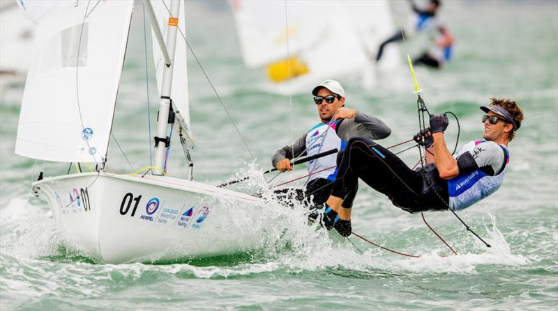Australian Sailing Team at 2020 Hempel World Cup Series Miami photo copyright Sailing Energy / World Sailing taken at  and featuring the 470 class
